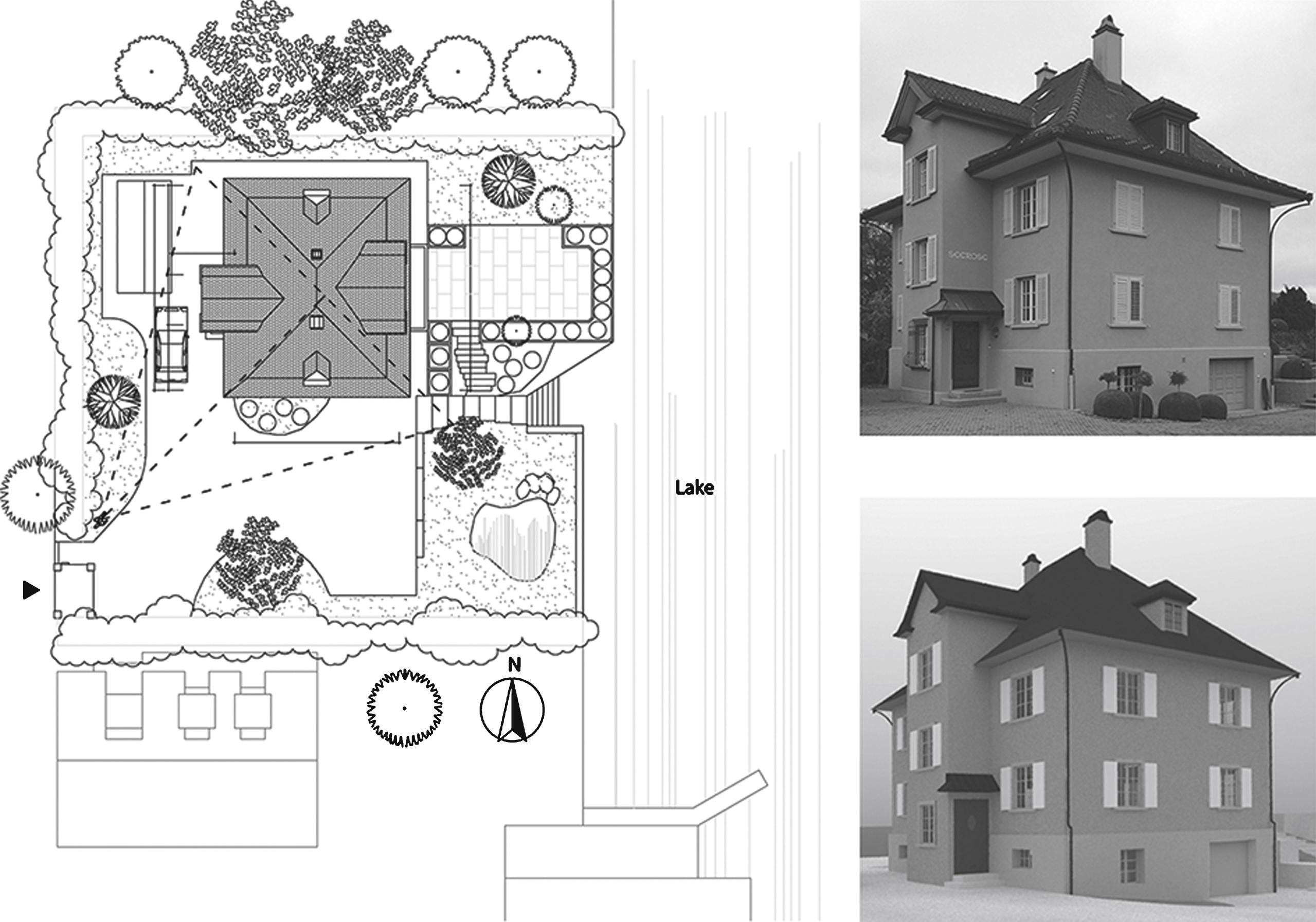 Site Plan Of The Building U0027Seeroseu0027 (left), Photo U0027as Is