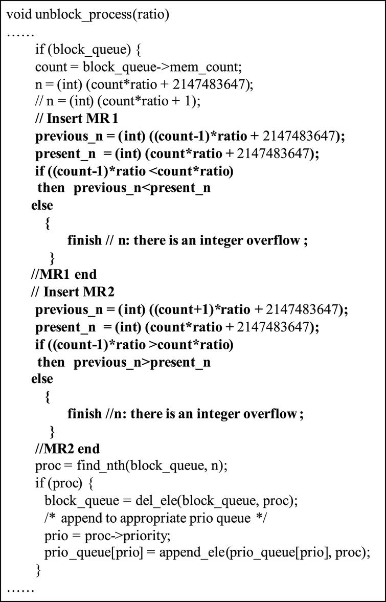 A runtime-testing method for integer overflow detection