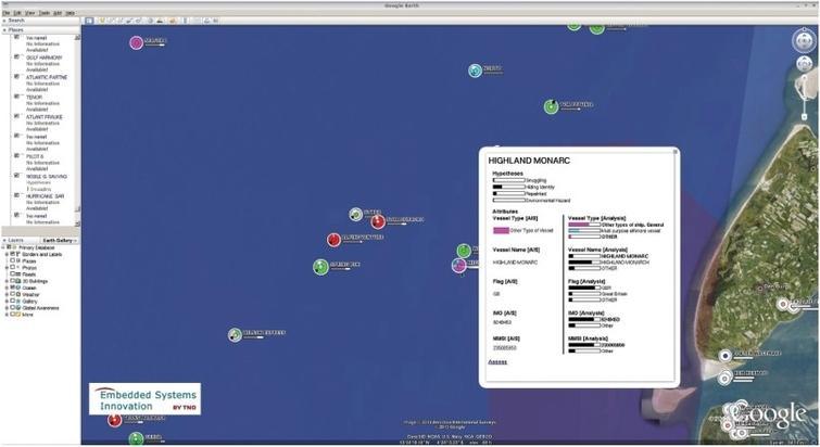 Metis system screenshot. The background map imagery, courtesy of ©2013 Google, ©2013 Aerodata International Surveys, Data SIO, NOAA, USNavy, NGA and GEBCO.