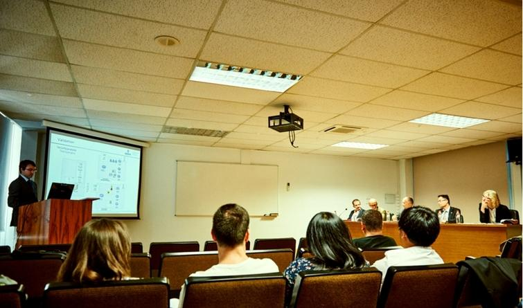 Picture taken during the Ph.D. thesis defense.