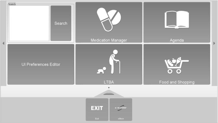 Example of a generated user interface by the universAAL framework.