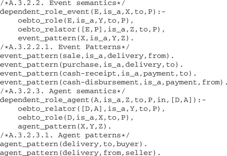 Derives event and agent roles from to and from statements.