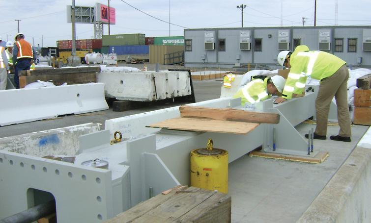Test rig for full-length rods during setup.