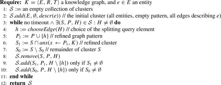 Partitioning algorithm for entitye in knowledge graphK