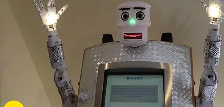 Bless-U2, the robot priest. Courtesy of Guardian News & Media Ltd. (Sherwood, 2017).