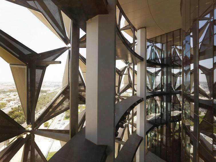 The Mashrabiya of the Al-Bahr Towers as seen from the inside – Sky garden open space.