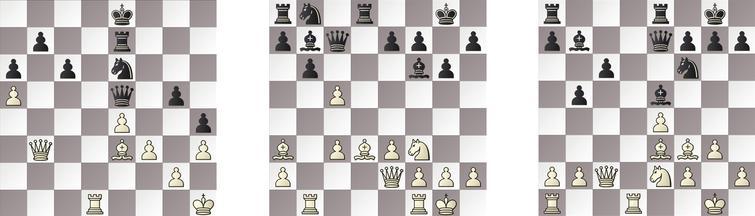R5: a) KOMODO – JONNY 45b, b) GRIDGINKGO – RAPTOR 14w and c) SHREDDER – HIARCS 18b.