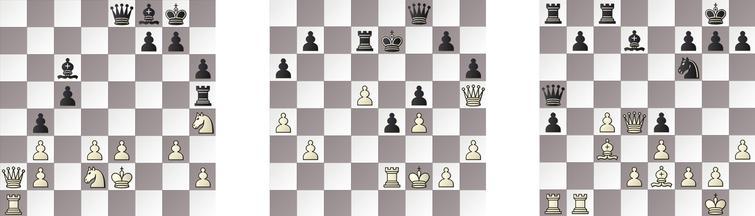 R7: a) GRIDGINKGO – JONNY 51b, KOMODO – SHREDDER 44w and c) RAPTOR – HIARCS 24b.