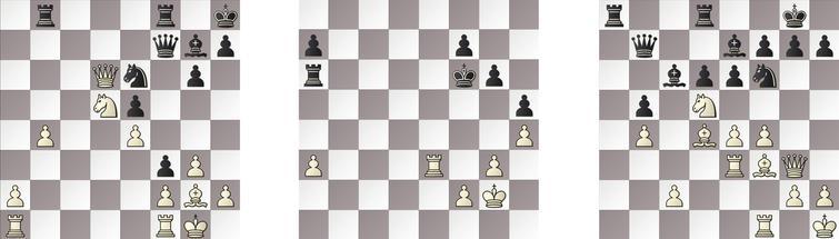 R10: a) JONNY – KOMODO 24w, b) RAPTOR – GRIDGINKGO 36w and c) HIARCS – SHREDDER 23b.