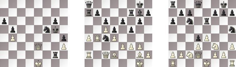 PO: a) 1.1 KOMODO – JONNY 53b, b) 1.2 JONNY – KOMODO 28w and c) 3.2 KOMODO – JONNY 17w.
