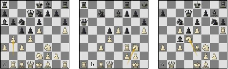 Games 05-06: (a) g06 p12b, (b) g05, p34b, (c) g06, p19b.