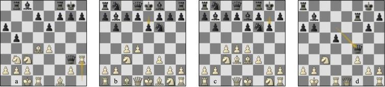 (a) Game 33 Lc-St p18b: game 47 Lc-St (b) p5w, (c) p8w, (d) p24w.