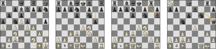 (a) Game 48 St-Lc p18b: Sufi Bonus 2 game g55 StClassical-St (b) p9w, (c) p11w, (d) p19w.