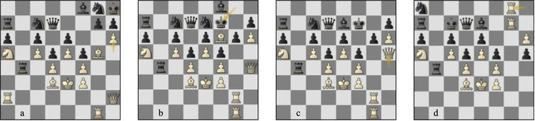 Game 60 St-Lc (a) p145b, (b) p149w, (c) p150b, (d) p155b.