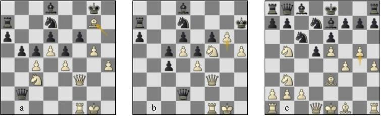 Game 61 Lc-St (a) p29b, (b) p34b: (c) game 67 Lc-St p15b.