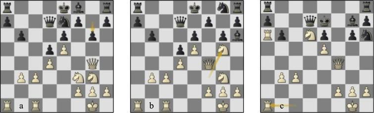 Game 92 St-Lc (a) p18w, (b) p20b, (c) p26b.