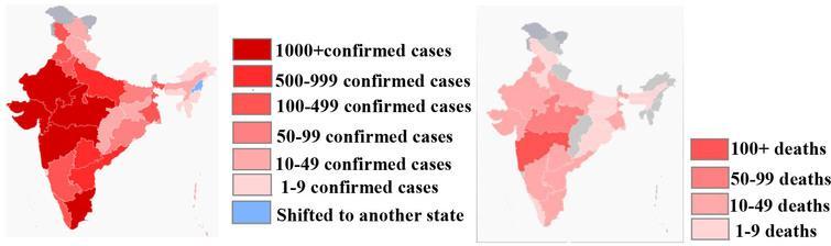 Map of coronavirus pandemic in India33https://en.wikipedia.org/wiki/2020_coronavirus_pandemic_in_India..