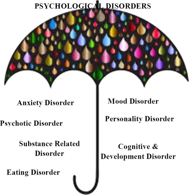 Categories of psychological disorder.
