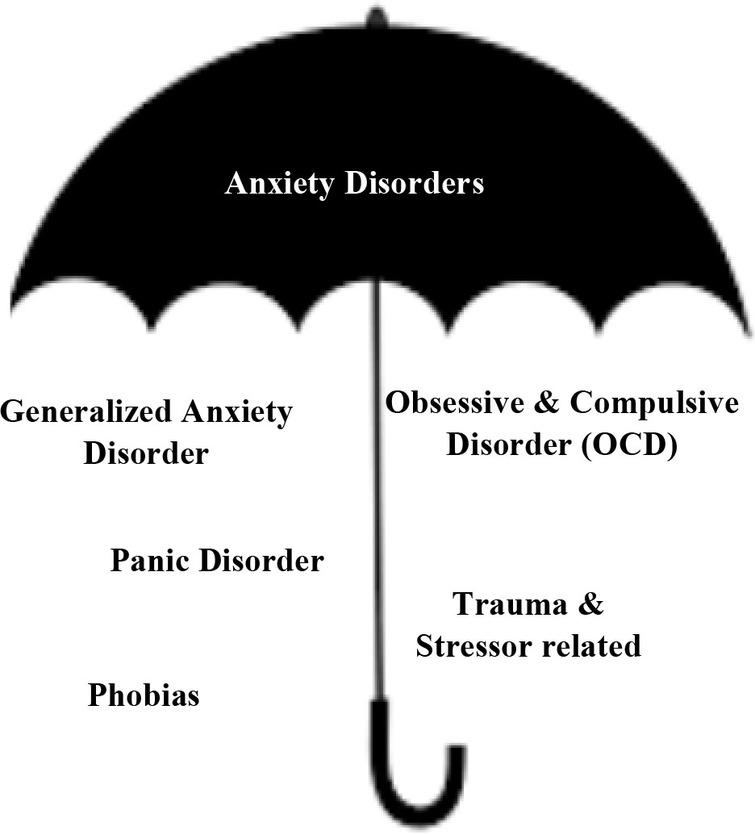 Types of anxiety disorders.