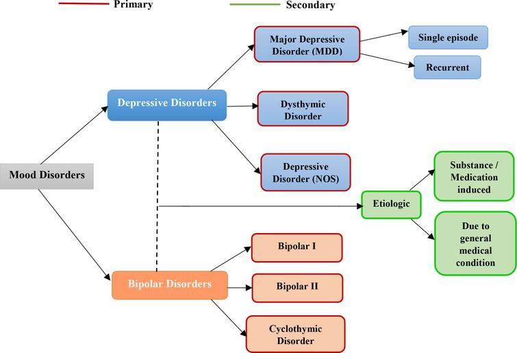 Types of mood disorders.