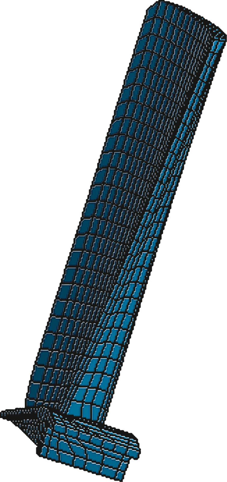 Aero-engine blade finite element model.