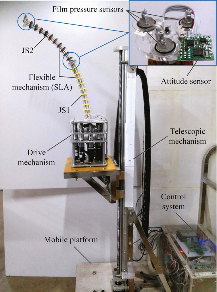 Experimental prototype of a continuum AFTIR.