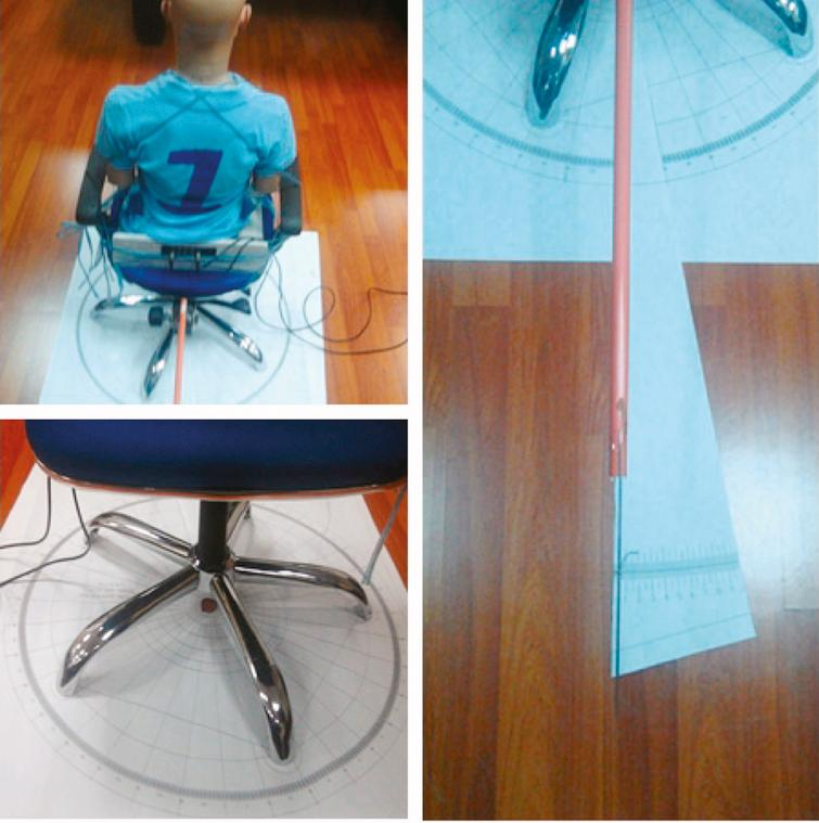 Actual experimental setup for three-dimensional spatial perception characteristic.
