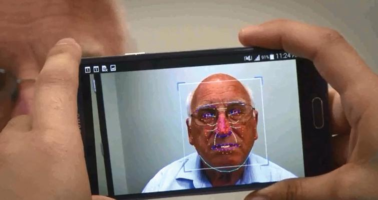Facial features extraction of the ePAT App.