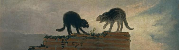 Riña de gatos (cat fight), Francisco de Goya y Lucientes (1786); Museo del Prado, Madrid.
