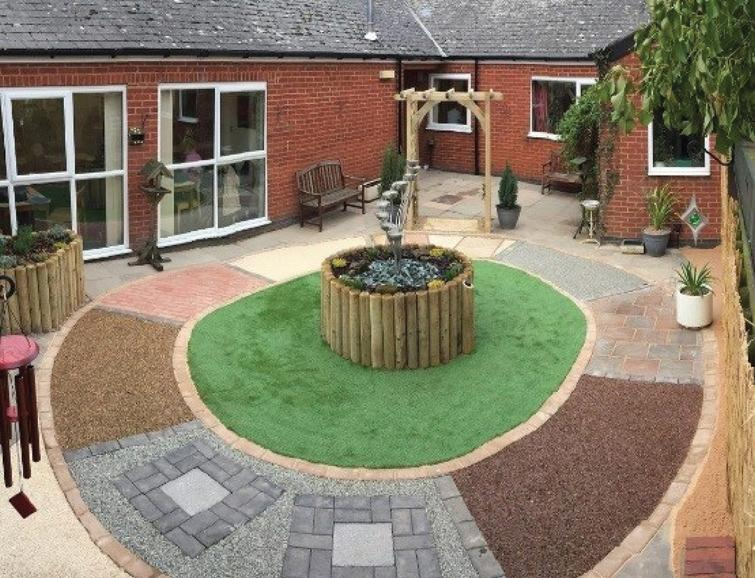 A looped pathway design in an outdoor garden. Reprinted from Google Free Images.