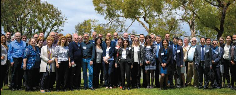 Picture of the 50 face to face attendees of the first SC4HD meeting that took place at the Beckman Center for National Academies of Science, Engineering and Medicine and UC Irvine Stem Cell Research Center.