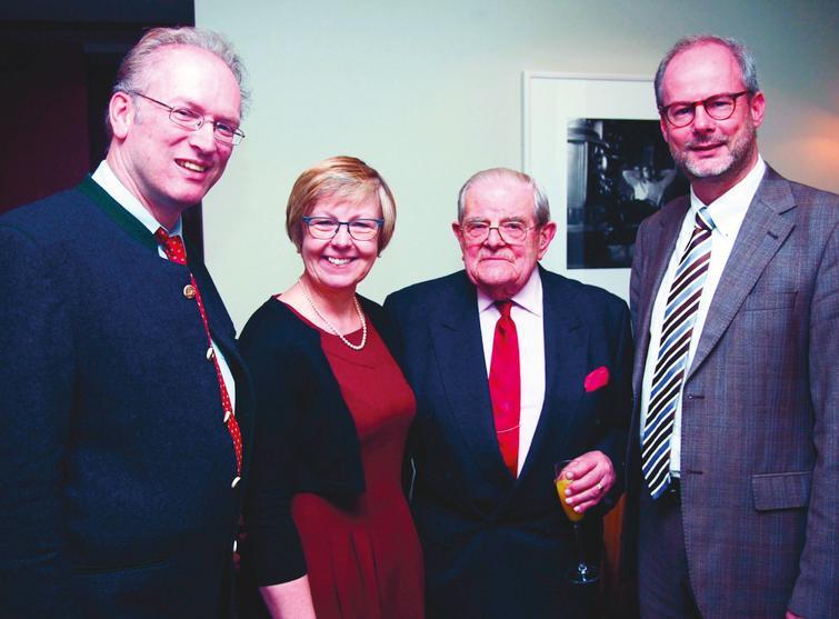 Hanns Lochmüller, Kate Bushby, Lord Walton and Volker Straub (November 2014).