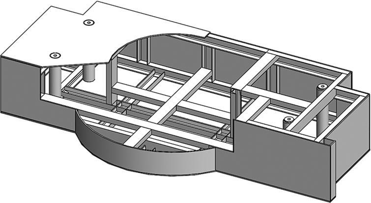 Stiffener design in the bottom shield.