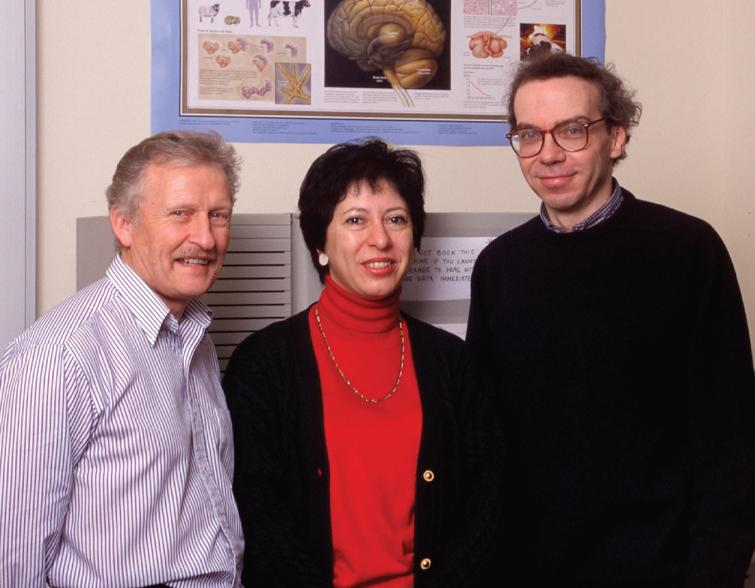Twenty years ago: Ross Jakes, Maria Grazia Spillantini and Michel Goedert (from left to right) in 1997.