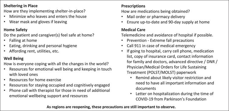 Talking points developed for COVID-19 outreach program involving telephone calls to vulnerable patients.