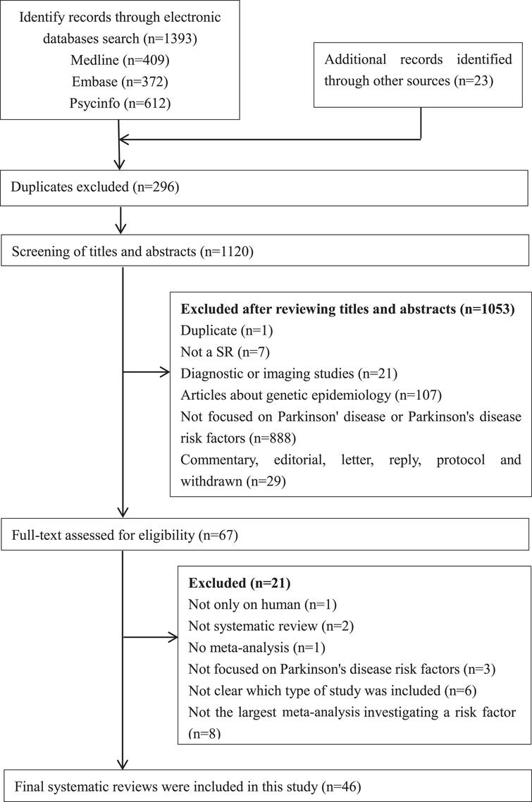 PRISMA flowchart: the screening and selection process. Note: PRISMA, Preferred Reporting Items for Systematic Reviews and Meta-Analyses.