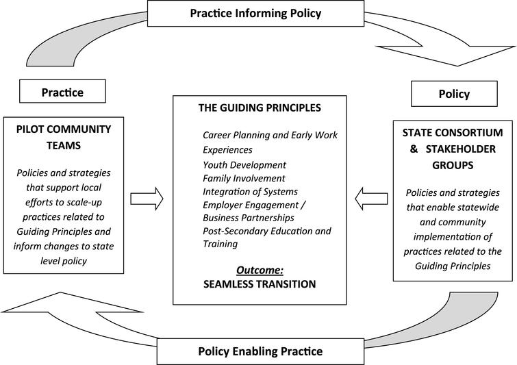 Policy-Enables-Practice/Practice-Informs-Policy Framework.