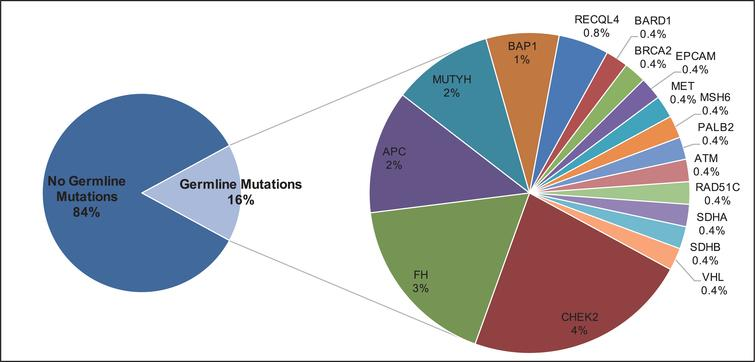 Frequency and Distribution of Pathogenic Germline Mutations