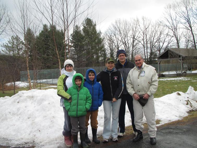 This photo was taken in spring 2013, the last time he visited us in Vermont. The Aivazian family wanted to go skiing, but it was a rainy day and we played paddle tennis instead. From left to right: Tatiana, his two grandkids, Valentina (my wife), myself, and Sergey.