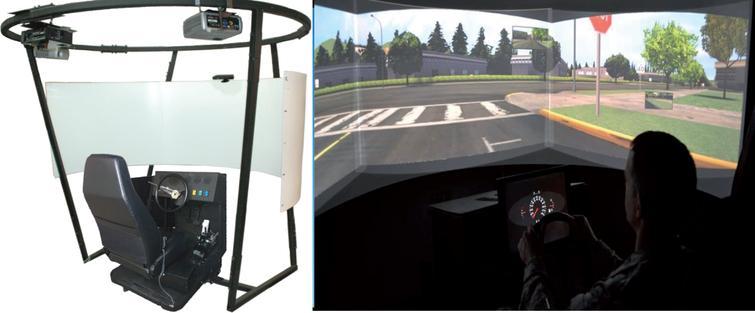 T3 VR Driving Simulator.