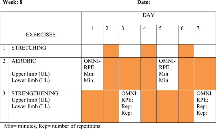Example of SHEP schedule.