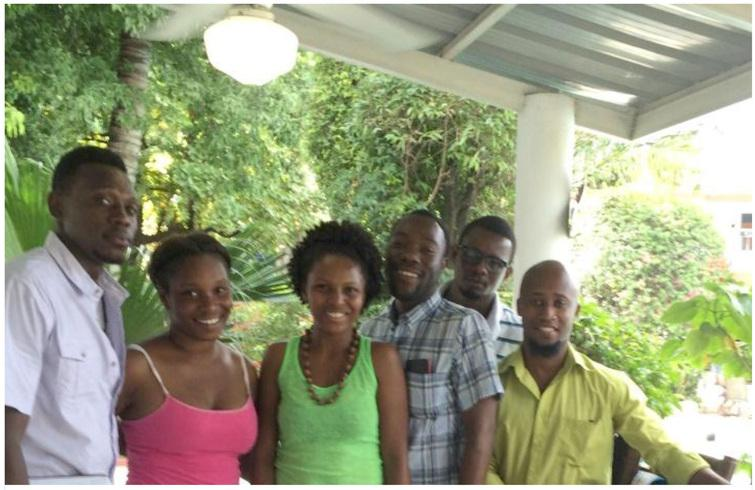 The team from left to right – Chauncy, Franzlande, Ginny, Emilio, Mackenson and Antoine.