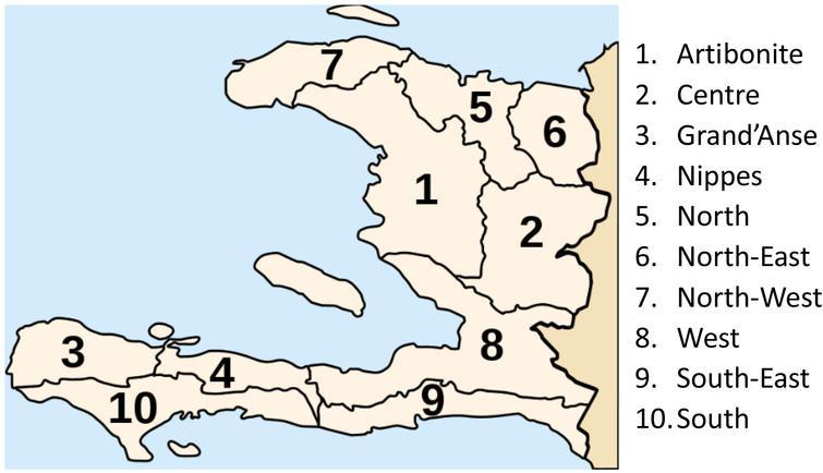 Departments of Haiti.