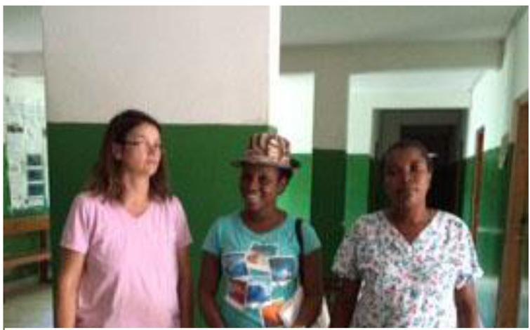 Monica, Frantzlande and nurse in a hospital.