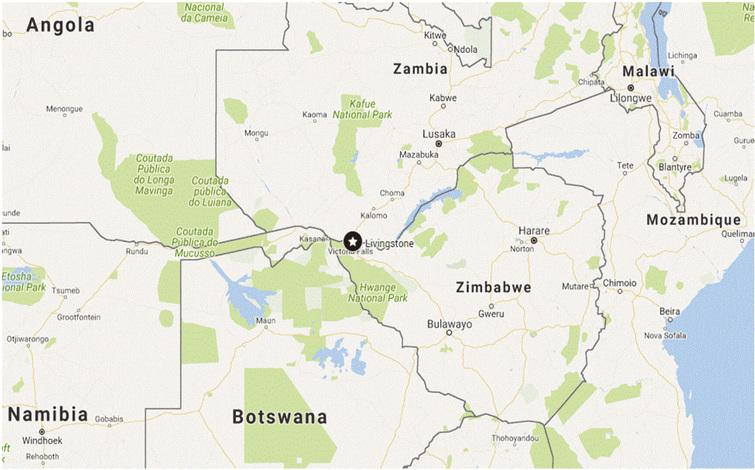 Livingstone, Zambia and neighboring African countries.