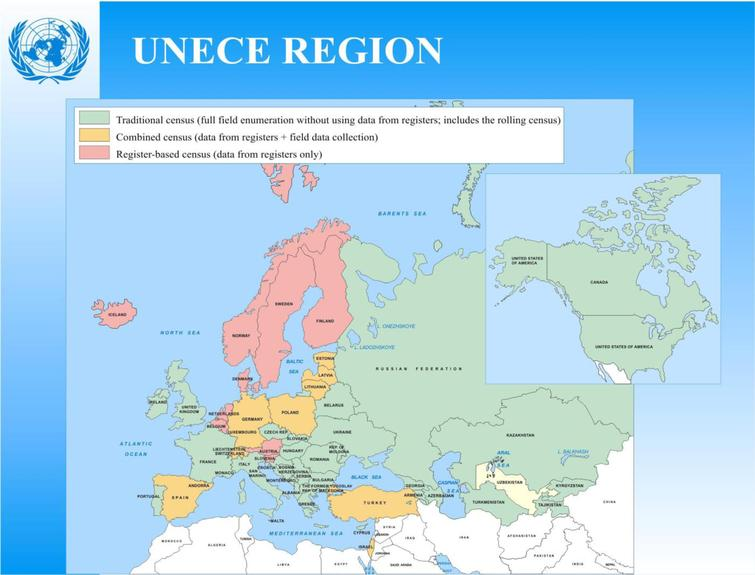 Census methods in UNECE countries. Source: [10].