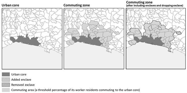 Functional urban area (Genova, Italy).