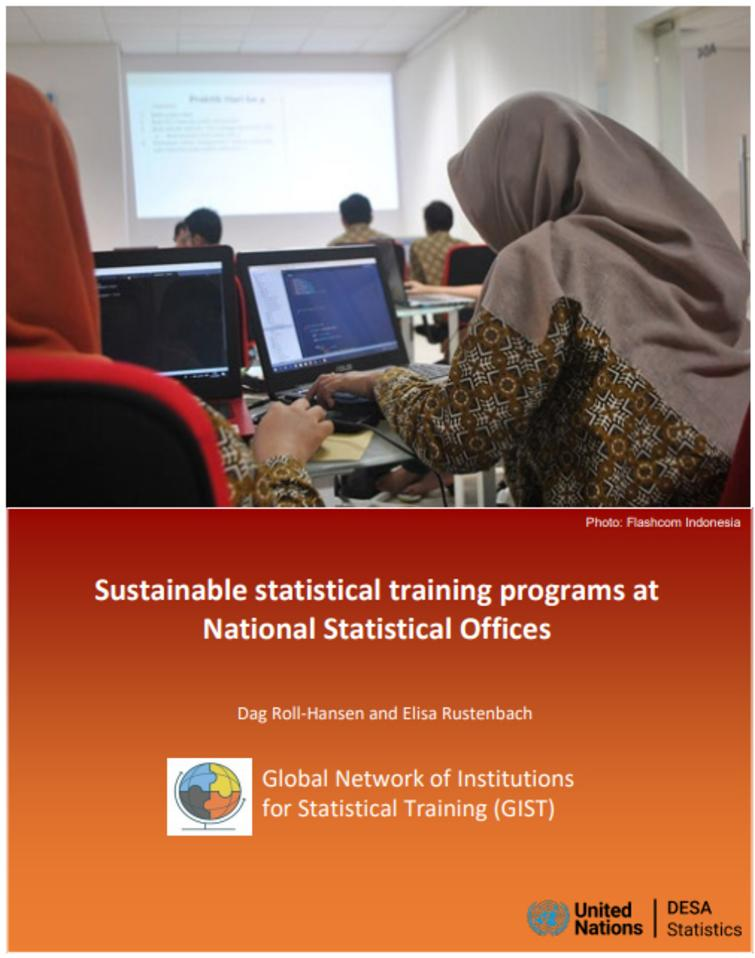 Front page of the report prepared for GIST on Sustainable statistical training programs at NSOs.
