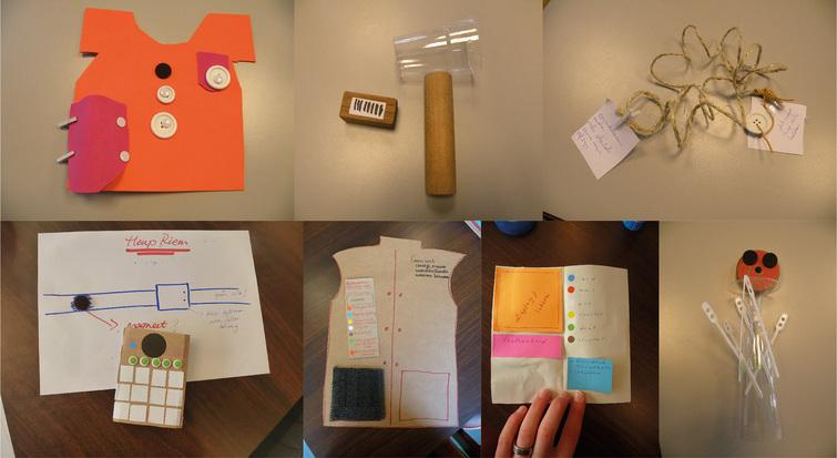 Some of the prototypes that were designed by the participants