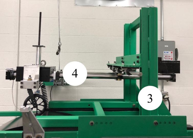 Upper frame and arm assembly. (3) Upper frame, (4) Arm assembly.